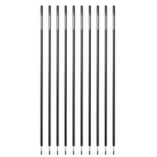 10 Slalom poles 160 cm diameter 25 mm - Black