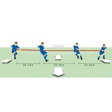 T-PRO Back four trainer - elastic Junior