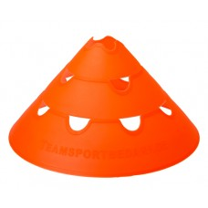 Jumbo Perforated Cones ø 30 cm single orange