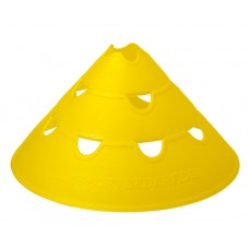 Jumbo Perforated Cones ø 30 cm single Yellow