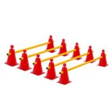 Cone Hurdles Set of 5 Colours Height 23 cm Red