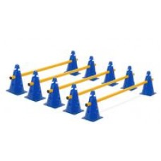 Cone Hurdles Set of 5 Colours Height 23 cm Blue