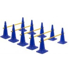 Cone Hurdles Set of 5 Height 52 cm Blue