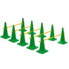 Cone Hurdles Set of 5 Height 52 cm Green