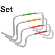 Set of 4 T-PRO Bounce-Back Mini Hurdles - 4 Heights