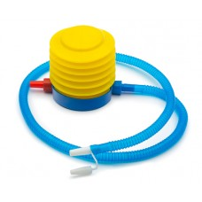 Foot pump for gymnastics balls